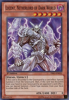 Yu-Gi-Oh Primal Origin 1st Ed. Single Lucent, Netherlord of Dark World Super Rare- NEAR MINT (NM)