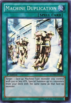 Yu-Gi-Oh Legendary Collection 1st Edition Single Machine Duplication Super Rare