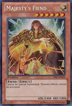 Yu-Gi-Oh Primal Origins Single Majesty's Fiend Secret Rare - NEAR MINT (NM)