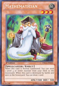 Yu-Gi-Oh Dragons of Legend Single Mathematician Secret Rare - NEAR MINT (NM)