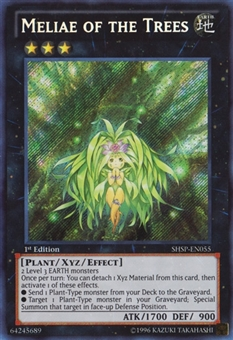 Yu-Gi-Oh Shadow Specters 1st Ed. Single Meliae of the Trees Secret Rare - MODERATE PLAY