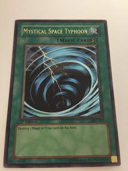 Yu-Gi-Oh MISPRINT Mystical Space Typhoon - Metal Raiders Suijin Mark