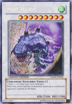 Yu-Gi-Oh Hidden Arsenal 1 Single Mist Wurm Secret Rare - MODERATE PLAY (MP)