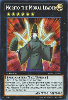 Yu-Gi-Oh Number Hunters 1st Ed. Single Norito The Moral Leader Secret Rare - NEAR MINT (NM)