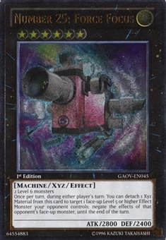 Yu-Gi-Oh Galactic Overlord 1st Ed. Single Number 25: Force Focus Ultimate Rare - NEAR MINT (NM)