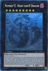 Yu-Gi-Oh Cosmo Blazer Single Number 92: Heart-EartH Dragon Ghost Rare - SLIGHT PLAY (SP)