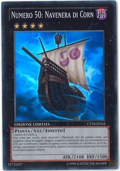 Yu-Gi-Oh Collectible Tins SPANISH Single Number 50: Blackship of Corn Super Rare - NEAR MINT
