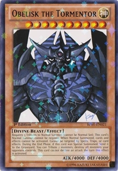 Yu-Gi-Oh Battle Pack 1st. Ed. Single Obelisk the Tormentor Star Foil (BP01-EN021) - SP