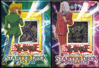 Upper Deck Yu-Gi-Oh Starter Joey/Pegasus 1st Ed Decks (1 of each)