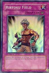Yu-Gi-Oh Labyrinth of Nightmare 1st Edition Riryoku Field Rare Foil (LON-081)