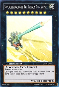 Yu-Gi-Oh Collectible Tins Single Superdreadnought Rail Cannon Gustav Max super rare - NM
