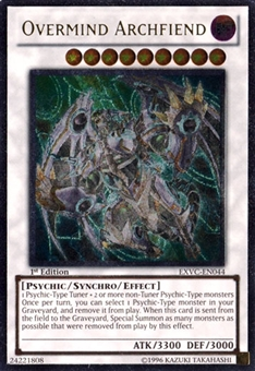Yu-Gi-Oh Extreme Victory 1st Edition Single OverMind Archfiend Ultimate Rare EXVC-EN044