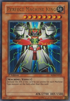 Yu-Gi-Oh Rise of Destiny 1st Ed. Single Perfect Machine King Ultra Rare - SLIGHT PLAY (SP)
