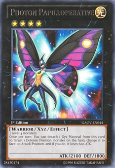 Yu-Gi-Oh Galactic Overlord Single Photon Papilloperative Rare - NEAR MINT (NM)