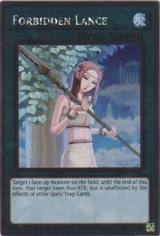 Yu-Gi-Oh Knights of the Round Table Single Forbidden Lance Platinum Rare - NEAR MINT (NM)