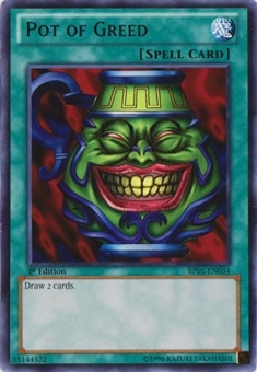Yu-Gi-Oh Battle Pack 02 1st Ed. Single Pot of Greed Rare - SLIGHT PLAY (SP)