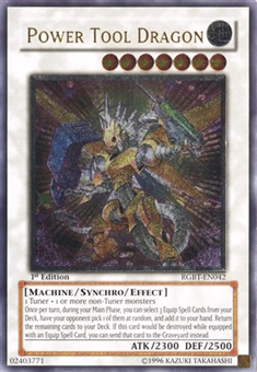 Yu-Gi-Oh Raging Battle 1st Edition Single Power Tool Dragon Ultimate Rare - NEAR MINT (NM)