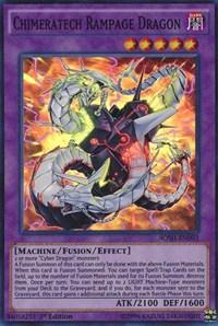 Yu-Gi-Oh Breakers of Shadow 1st Ed. Single Chimeratech Rampage Dragon Super Rare - NEAR MINT (NM)