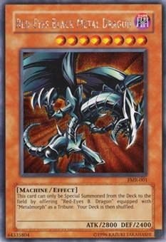 Yu-Gi-Oh Promo Single Red-Eyes Black Metal Dragon Secret Rare FMR-001 - SLIGHT PLAY