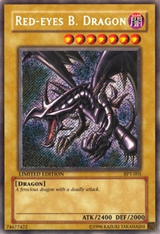 Yu-Gi-Oh Promotional Single Red-Eyes B. Dragon Secret Rare BPT-005 - MODERATE PLAY