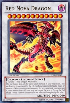 Yu-Gi-Oh Starstrike Blast 1st Edition Single Red Nova Dragon Ultra Rare - NEAR MINT (NM)
