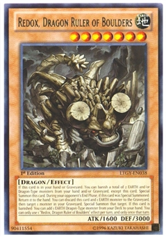 Yu-Gi-Oh Lord Tachyon Galaxy 1st. Ed. Single Redox, Dragon Ruler of Boulders Rare - NM