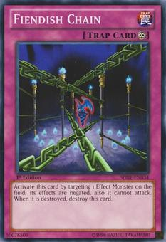 Yu-Gi-Oh SDBE Single Fiendish Chain Common - NEAR MINT (NM)