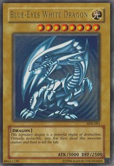 Yu-Gi-Oh SD Kaiba Single Blue-Eyes White Dragon Ultra Rare (SDK-001) - NEAR MINT (NM)