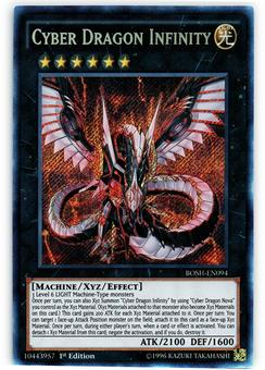Yu-Gi-Oh Breakers of Shadow 1st Ed. Single Cyber Dragon Infinity Secret Rare - NEAR MINT (NM)