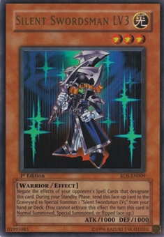 Yu-Gi-Oh Rise of Destiny 1st Edition Single Silent Swordsman LV3 Ultra Rare