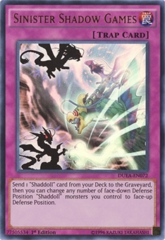 Yu-Gi-Oh Dualist Alliances 1st Ed. Single Sinister Shadow Games Ultra Rare - NEAR MINT (NM)
