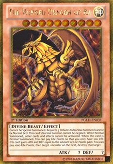 Yu-Gi-Oh Premium Gold Single The Winged Dragon of Ra Gold Rare - NEAR MINT