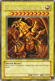 Yu-Gi-Oh Promotional Single The Winged Dragon of Ra Secret Rare GB1 - SLIGHT PLAY
