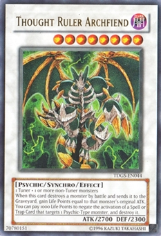 Yu-Gi-Oh The Duelist Genesis Single Thought Ruler Archfiend Ultra Rare - HEAVY PLAY (HP)
