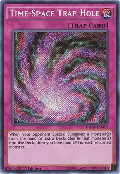 Yu-Gi-Oh MP15 1st Ed. Single Time-Space Trap Hole Secret Rare - NEAR MINT (NM)