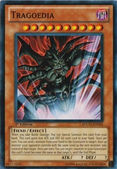 Yu-Gi-Oh SD Gates of the underworld 1st Ed. Single Tragoedia Common - NEAR MINT (NM)