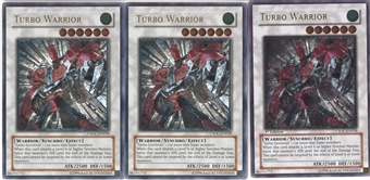 Yu-Gi-Oh Crossroads of Chaos PLAYSET Turbo Warrior Ultimate Rare X3 - NEAR MINT (NM)