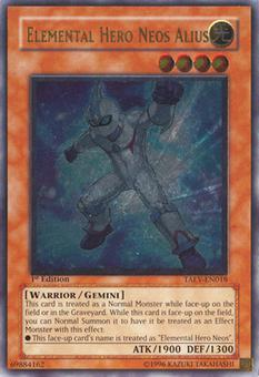 Yu-Gi-Oh Tactical Evolution Single Elemental Hero Neos Alius Ultimate Rare - SLIGHT PLAY (SP)
