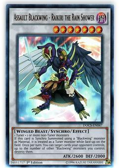 Yu-Gi-Oh DOCS 1st Ed. Single Assault Blackwing - Raikiri the Rain Shower Ultra Rare - NEAR MINT (NM)