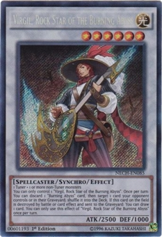 Yu-Gi-Oh The New Challengers 1st Ed. Single Virgil, Rock Star of the Burning Abyss - SLIGHT PLAY (SP)