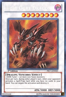 Yu-Gi-Oh Promo 1st Ed. Single Void Ogre Dragon Secret Rare - SLIGHT PLAY (SP)