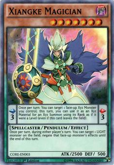 Yu-Gi-Oh Clash of Rebellions 1st Ed. Single Xiangke Magician Super Rare - NEAR MINT (NM)