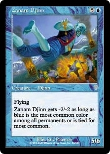 Magic the Gathering Invasion Single Zanam Djinn Foil