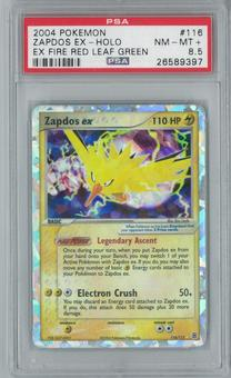 Pokemon EX Fire Red Leaf Green Zapdos ex 116/112 Single PSA 8.5