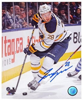 Zemgus Girgensons Autographed Buffalo Sabres Passing 8x10 Hockey Photo