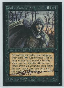 Magic the Gathering Beta Artist Proof Zombie Master - SIGNED BY JEFF A. MENGES