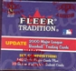 2000 Fleer Tradition Update Baseball Factory Set