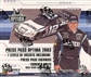 2003 Press Pass Optima Racing Hobby Box
