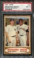 1962 Topps Baseball #18 Managers' Dream Mantle / Mays PSA 7 (NM) *4383