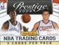 2009/10 Panini Prestige Basketball 24-Pack Lot (Box)